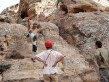 Lekce bezpečné chůze po skalách.