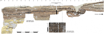 The comparison of sedimentary sections as backgrounds for the original and revised chronostratigraphy.