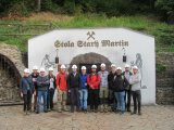 Participants of the course in front of the old tin mine near Krupka