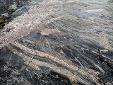 A shear zone – Archean monzogranites and younger dykes